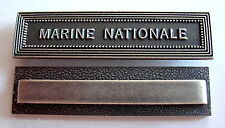 Agrafe barrette MARINE NATIONALE pour rubans de médailles militaires diverses.