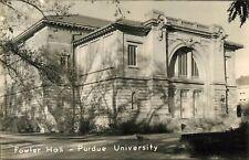 c1940 Fowler Hall, Purdue University, Lafayette, Indiana Real Photo Postcard