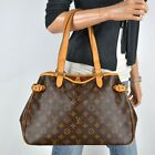 Louis Vuitton Batignolles Horizontal Monogram Leather Shoulder Bag Handbag Purse photo