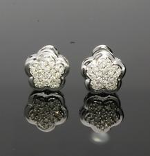 14CT WHITE GOLD DIAMOND CLUSTER EARRINGS
