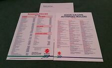 1986 SUZUKI UK ACCESSORIES PRICE LIST & DEALER LIST BROCHURE SJ410 SJ413 Swift