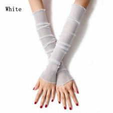 Anti-UV Long Arm Summer Women Mittens Fingerless Sunscreen Gloves Leg Socks