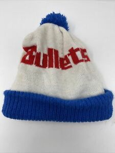Vintage 80's/ 90's Washington Bullets USA Made Beanie Winter hat OSFA
