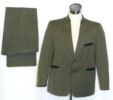 "WOOL SUIT Jacket Pants GREEN Men Military German Oktoberfest Trachten c46"" w38.5"