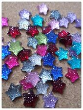12 x Resin Rhinestones - Star - 11mm - Mixed Colour