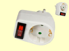 Schuko Steckeradapter Stecker mit Schalter Steckerschalter 1-Steckdose schaltbar