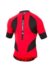 CYCLING JERSEY SHORT SLEEVE  in Red / Black ETXEONDO Trier TX
