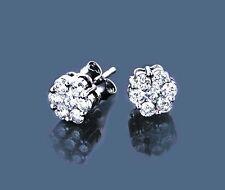 Diamant Ohrringe Weißgold 585 Brillanten 1,00 ct. Ohrstecker Wesselton SI Neu