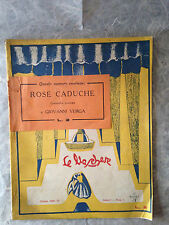RIVISTA LE MASCHERE TEATRO 1928 N.1 COMMEDIA ROSE CADUCHE GIOVANNI VERGA TALLI
