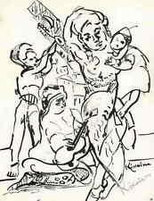 Mikhaïl KIKOINE - Das FEST - Drucksignierte Druckgraphik auf ARCHES-Bütten 1962