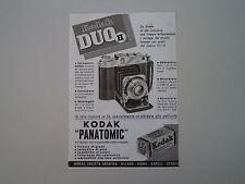 advertising Pubblicità 1941 KODAK DUO II/  PELLICOLE PANATOMIC