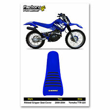2000-2004 Yamaha TTR 225 All Blue/Black Ribs SEAT COVER Ribbed GRIPPER
