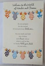 Parents to be Baby shower greeting card 12x18cm