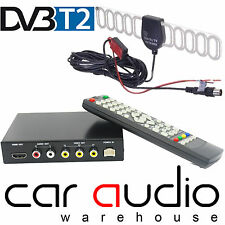 12/24 Volt Universal Freeview DVB-T T2 HDMI USB Digital In Car TV Tuner Aerials