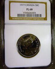 Canada 1977 50c Half Dollar PL68 NGC Scarce