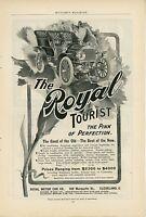 1904 Royal Tourist Automobile Ad Touring Car Cleveland Ohio OH Vintage Antique