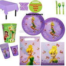 TINKERBELL BIRTHDAY PARTY SUPPLIES PLATES CUPS NAPKINS LOOT BAGS BONUS EXTRAS