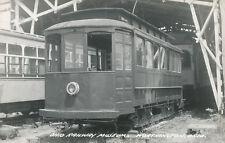 Worthington OH * Ohio Railway Museum RPPC  Trolley 1940s