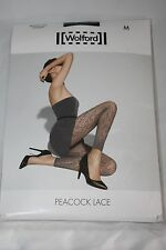 Wolford ~ Paon Dentelle ~ collants sans pieds BNWT ~ Xsmall UK 6/8 Noir