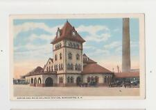 Manchester,NH.Boston & Maine Rail Road Depot,Hillsborough County,Used,1919
