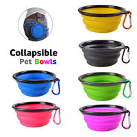 Silicone Portable Travel Feeding Dog Cat Puppy Feeder Water Food Dish Pet Bowl