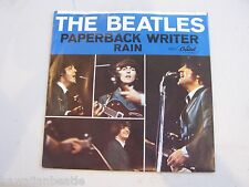 Beatles Paperback Writer Picture Sleeve with 45 NICE! 1966