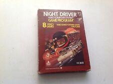 Night Driver Atari 2600 Game Cartridge Cx2644 With Manual