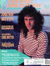 Modern Drummer Magazine November 1989 Jonathan Mover EX 040416jhe
