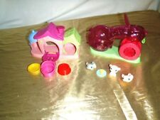 Littlest Pet Shop Hamster Gerbil Wheel & Tunnel & Playful Puppies Dog House Plus