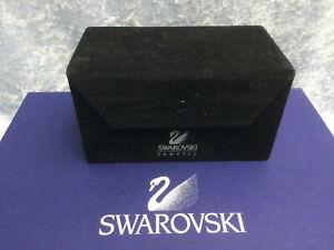Swarovski Jewelry Black Velvet-like Box w/Swan Logo