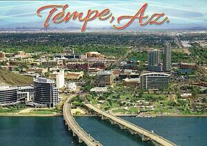 Aerial View of Tempe Arizona, AZ State University, Papago Park etc. --- Postcard