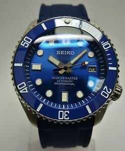 SKX007 Divers Watch SEIKO SII NH36 Hack Movement Double Dome Ceramic Blue Mod
