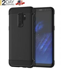 Samsung Galaxy S9+ Plus Protective Case Cover with Shock-Absorption Carbon Fiber
