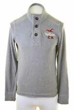 HOLLISTER Mens Sweatshirt Jumper Medium Grey Cotton  GO04