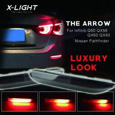 2x Red LED Rear Bumper Reflector Light For Infiniti QX60 Q50 JX35 Nissan Rogue