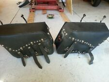 Harley Davidson saddle bags with supports. BigBoar Motorcycles.