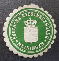 Siegelmarke Vignette DEUTSCHE HYPOTHEKENBANK MEININGEN (8106-5)