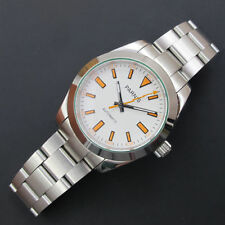 40mm Parnis Sapphire Crystal Orange Number Date Causal Men's Automatic Watch 472