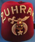 1971 Mason's Shriners Fez Hat & Picture w/Paperwork Rhinestone Pins BEAUTIFUL