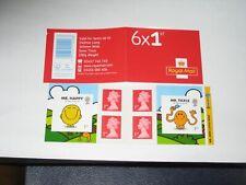 2016 PM54 MR MEN Plain Booklet 6 x 1st