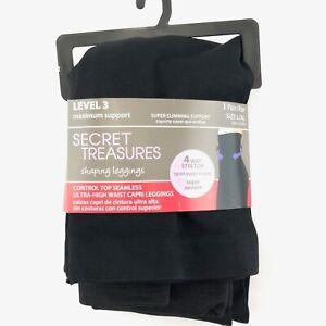Secret Treasures Control Top Mid Waist Capri Leggings Level 2 Denim S//M M//L L//XL