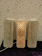 3  of 1960s German  Mid Century Limburg Textured  Glass Wall  Lamp  Sconces