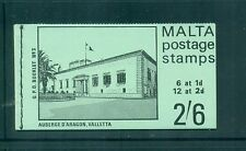 Malta 1971 2s6d Auberge d'Aragon contains SG 331,333 in blocks of 6 Booklet SB3