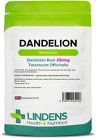 Dandelion Whole Root Herbals Botanicals 250mg 60 Capsules Liver Detox Lindens UK