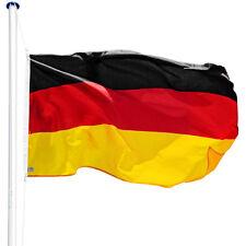 Alu Fahnenmast Deutschlandfahne 6,25m Mast Flagge Seilzug Bodenhülse Flaggenmast