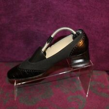 Talbots Women's Slip On Pumps Black Leather Shoes Made in Italy Heels Size 7.5 N