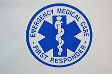 2 EMERGENCY MEDICAL CARE TECHNICIAN FIRST RESPONDER DECAL STICKERS