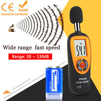 Digital Sound Level Decibel Meter LCD Display Noise Tester 30-130dB With Battery