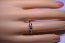 ANTIQUE 14K WHITE GOLD DIAMOND WEDDING BAND OR STACKING RING SIZE 6