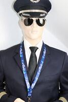 Lanyard ALASKA AIRLINES keychain neckstrap LANYARD new logo w. safety clip